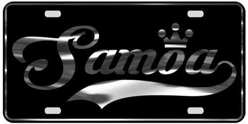 Samoa License Plate All Mirror Plate /& Chrome and Regular Vinyl Choices