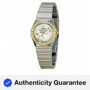 Omega Constellation Star Automatic MOP Dial Ladies Watches O12325246005001