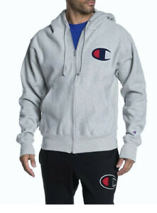 CHAMPION-REVERSE-WEAVE-GRAY-EMBROIDERED-ZIPUP-SIZE-L