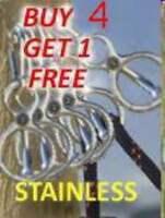 5 Blocker Tie Rings W/mag-loc Stainless Steel