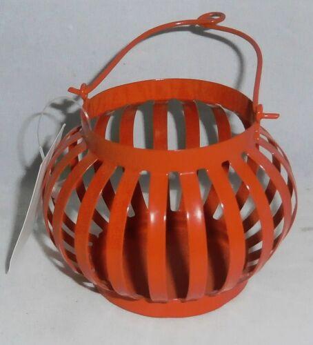 "Tealight Holder For Deck or Patio  Metal Orange 3 1//4/"" W x 5 1//4/""T"