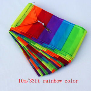 NEW-10M-Super-Nylon-long-tail-Triangle-Kite-Tail-Line-Outdoor-fun-Sports