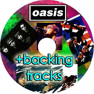 OASIS BASS & GUITAR TAB CD TABLATURE + 12 BACKING TRACKS