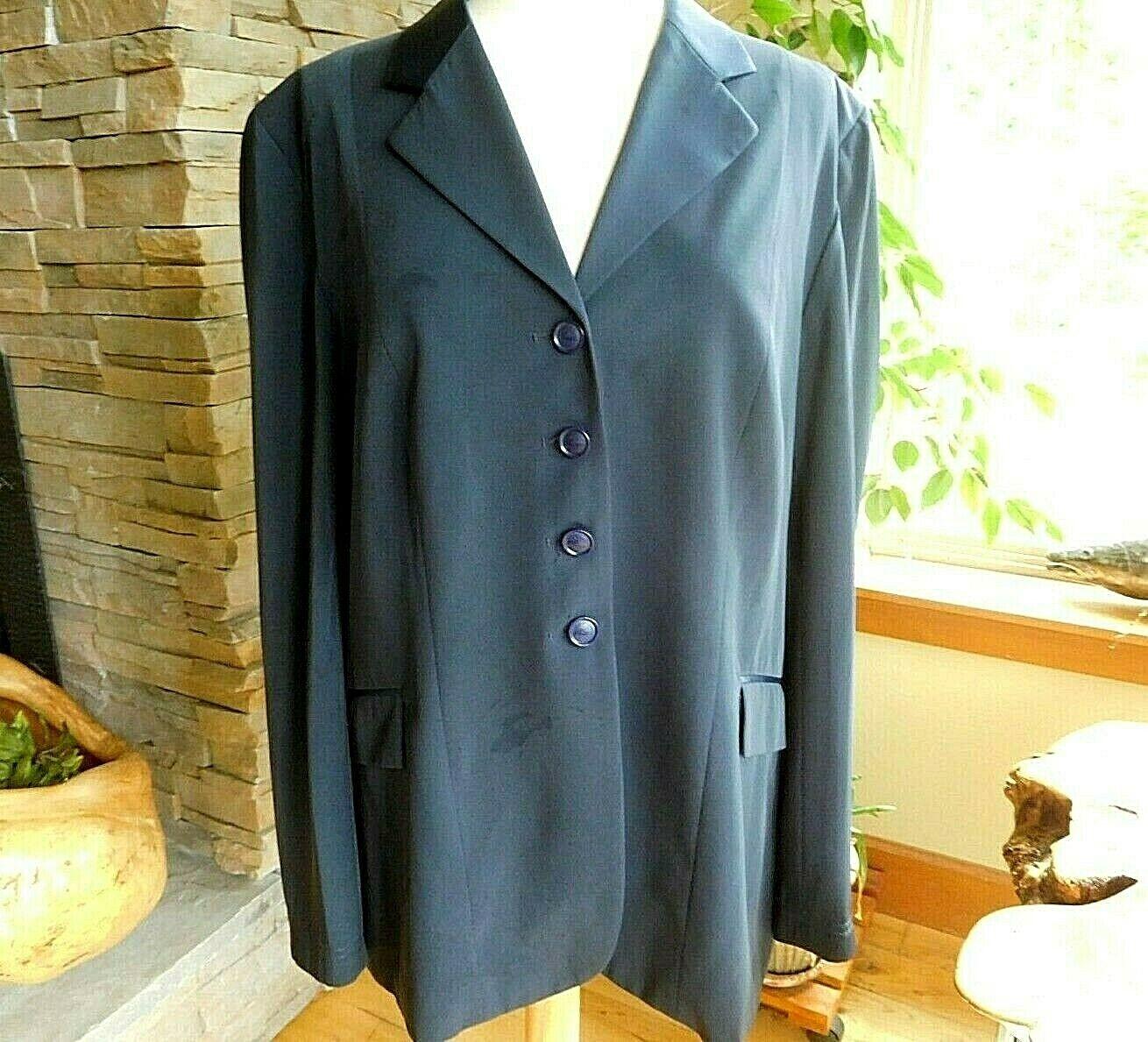 Grand Prix TechLite Show Coat 20 Tall US Ladies 14T Navy Silky Collar EJ44