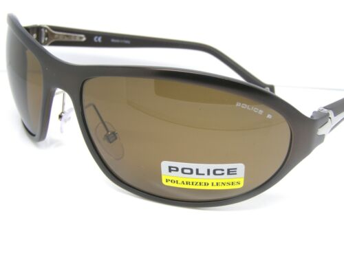 Police Stunning Cool Sunglasses S8771 8KFP Brown Shades Polarised Fashion New