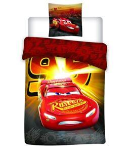 Disney Cars Bettwäsche Set Rot Kinder Bettbezug 63x63 140x200 Auto Autos Neu
