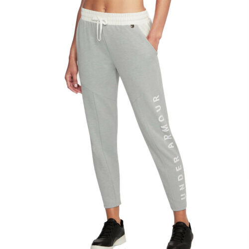 Under Armour UA Ladies Grey Unstoppable Knit Sweatpants Gym Sports Pants