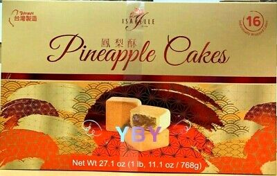 Isabelle Pineapple Cake 16 Ct 27 1 Oz Taiwanese Pastries Ebay