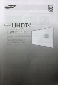 samsung uhd 4k genuine tv user manual series 6 bn68 07198g 03 rh ebay co uk user manual samsung tv ue40ju6400 user manual samsung tv series 5