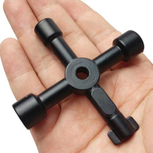 4-Way 6//8mm Schaltschrank Schlüssel Kreuzschlüssel Universalschlüssel Schlüssel