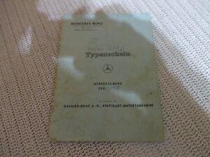 KFZ-BRIEF-TYPENSCHEIN-MERCEDES-BENZ-W110-200D-BJ-12-1967-GEBRAUCHT