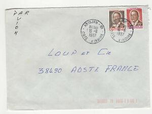 2-timbre-sur-lettre-1987-tampon-Cote-d-039-Ivoire-Abidjan-L236
