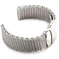 24mm Shark Mesh Stainless Steel Watch Band Strap Fits Breitling Thick & Heavy