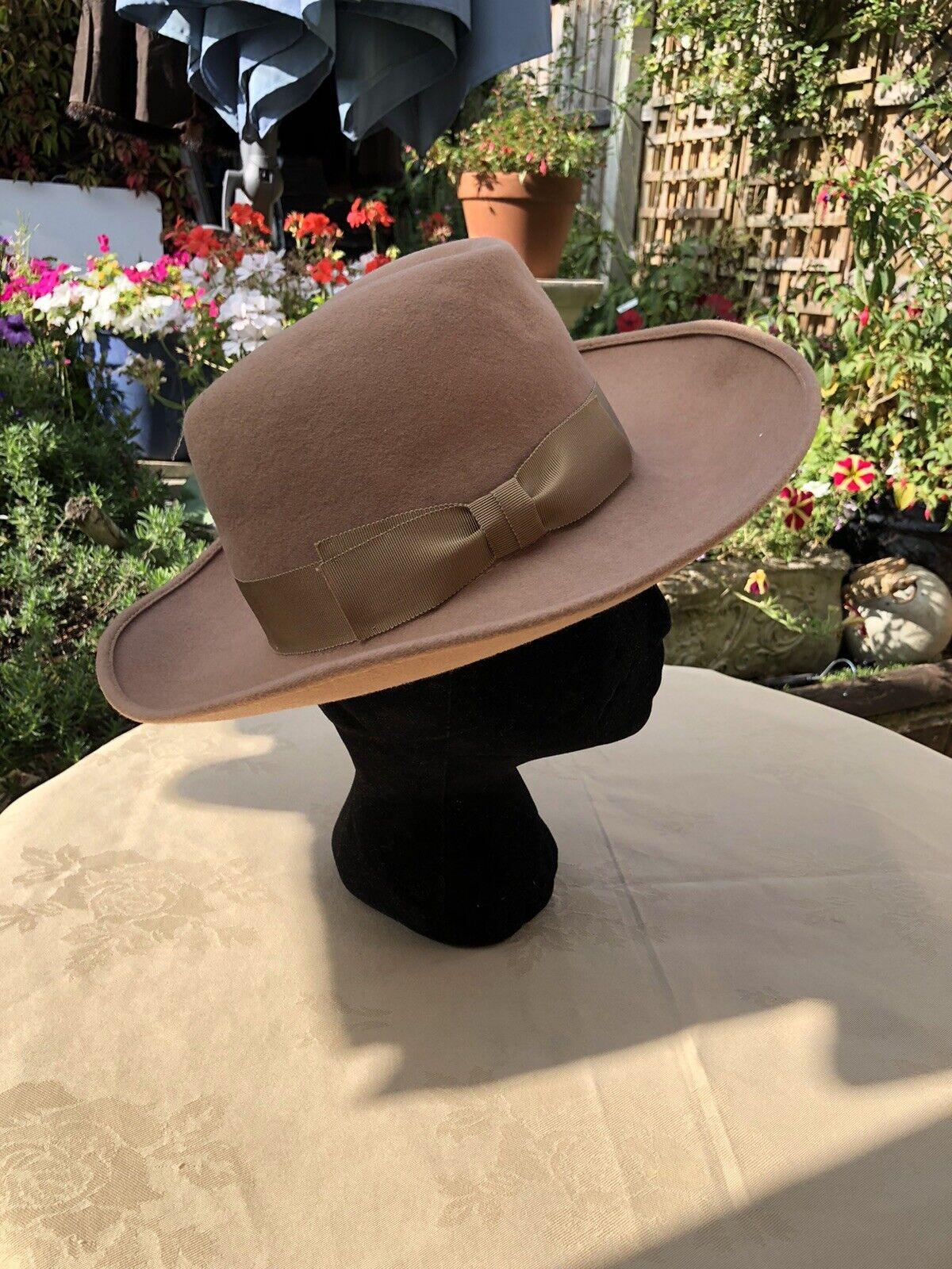 Peter Bettley pure wool Brown stunning Winter hat 55cm