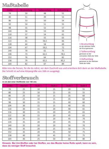 Schnittmuster Fadenkäfer Kleid Fiona Kinder Gr.74-164  Papierschnittmuster