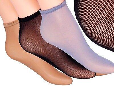 2 PAAR !! Ballerina FEINES MIKRO-NETZ Netz-Füßlinge Söckchen LUFTIG Füßlinge EU