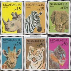 Nicaragua-2711-2716-kompl-Ausg-postfrisch-1986-Geschuetzte-Tiere