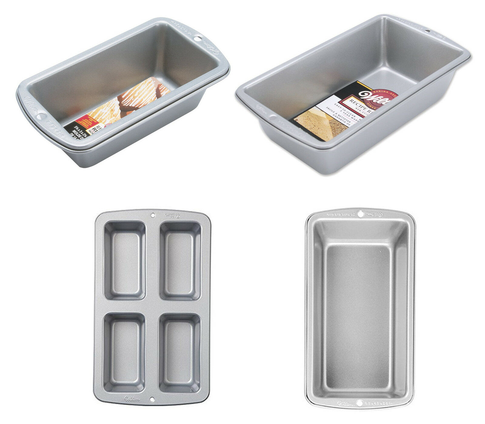 Details about Wilton Recipe Right Loaf Pans, 4 Sizes