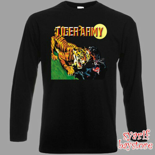 Tiger Army Rock Band Album Men/'s Long Sleeve Black T-Shirt Size S to 3XL