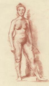 Peter Collins ARCA - c.1970s Sanguine, Female Nude