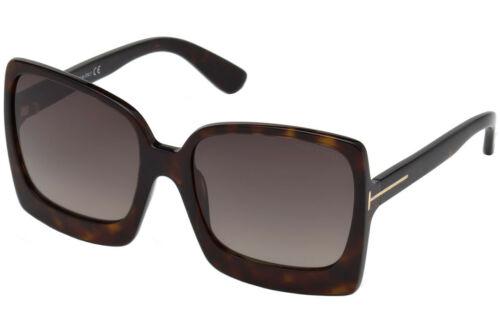 Tom Ford Women Sunglasses FT0617-52K Dark Havana Brown Gradient Lenses