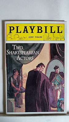 Autographs-original Victor Garber Signed Nyc 1992 Theater Creative 2 Shakespearean Actors Playbill Brian Bedford