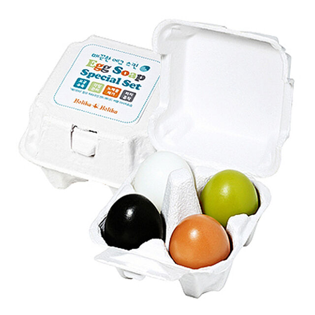 HOLIKA HOLIKA ® Egg Soap Special Set 50g*4ea / 4 Type Egg Soap