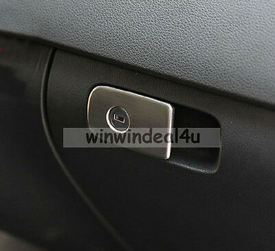 FOR 10-14 VW VOLKSWAGEN TIGUAN GLOVE BOX SWITCH TRIM COVER STAINLESS STEEL