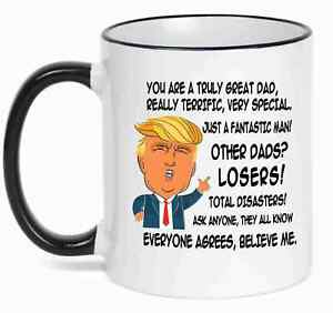 86ebf58b994 Gift for DAD, Donald Trump Great DAD Funny Mug Fathers Day Gift for ...