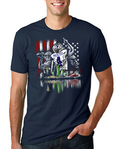 Dallas-Cowboys-Dak-Prescott-America-039-s-Quarterback-Navy-Unisex-T-Shirt