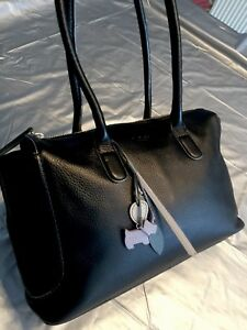 Lush-Soft-Black-Leather-Radley-Shoulder-Bag-Fab-con-L-RRP-195-BfUnKy4LeSs