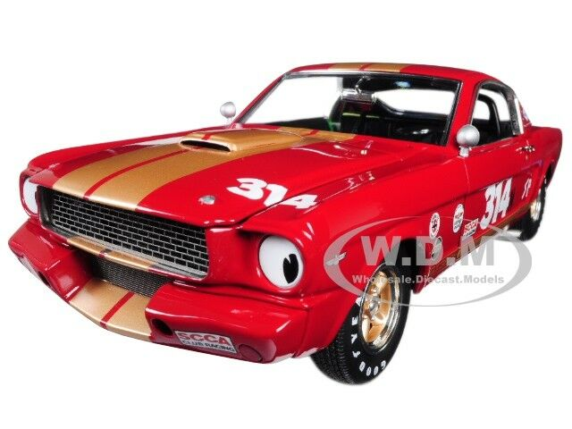 1966 FORD SHELBY MUSTANG GT350H  314  RENT A RACER  rosso 1/18 BY ACME A1801823