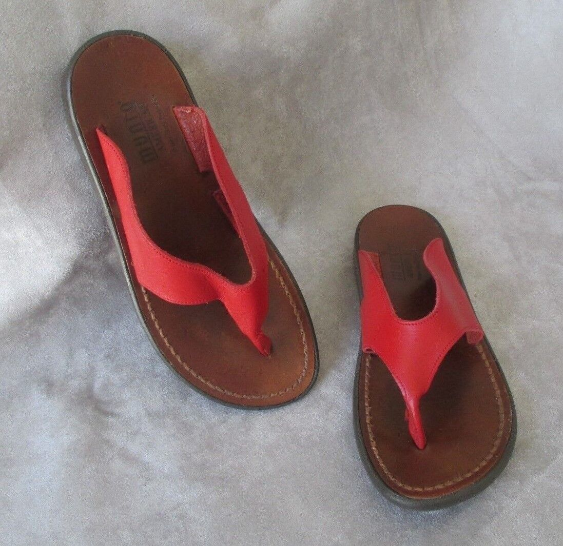 MUNRO SPORT AMERICAN SCULPTED LEATHER SANDALS Schuhe SIZE 6 M SO COMFORTABLE