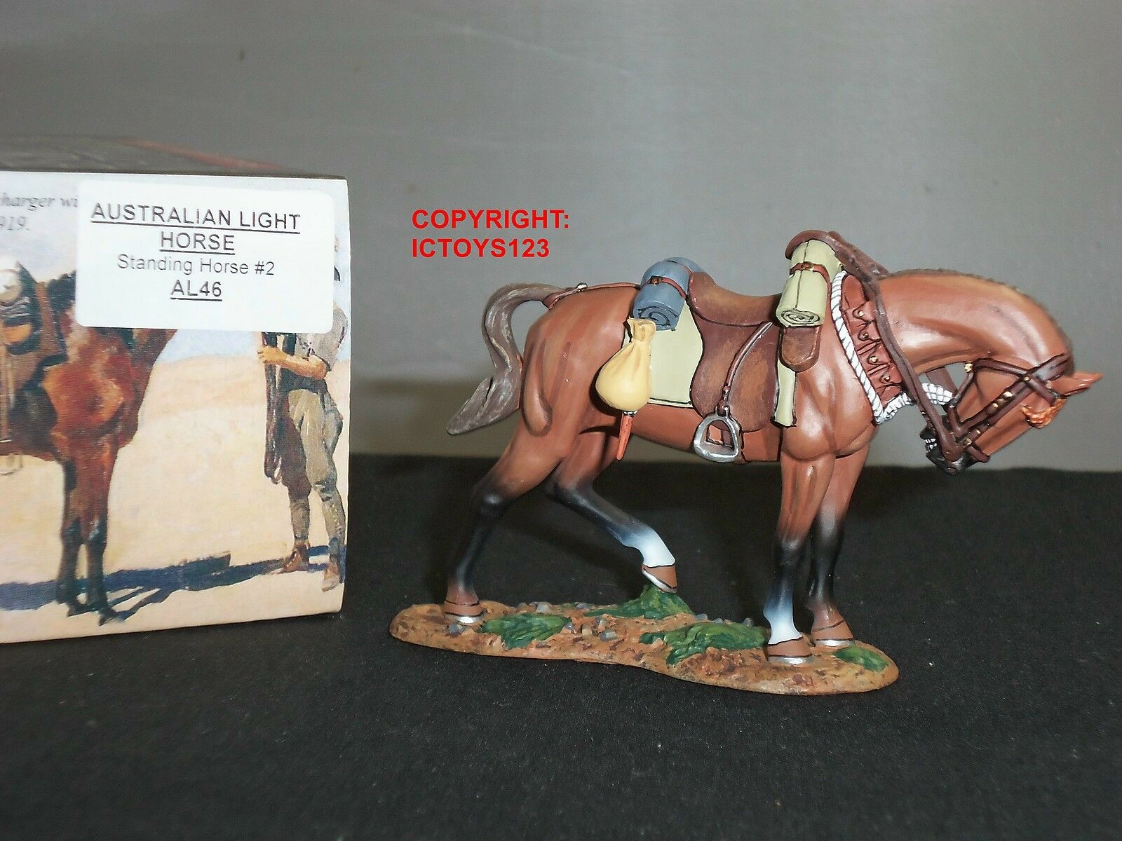 KING AND COUNTRY AL46 AUSTRALIAN LIGHT HORSE STANDING NO.2 METAL FIGURE