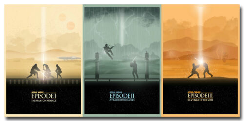 Star Wars Episode 1 2 3 Silk Poster 13x27 24x50 inches  Boba Fett 085