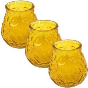 bauchigem Glas gegen Mücken 6x Anti-Insekten Citronella Kerze in dekorativem