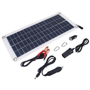 Solar-Powered-12V-Battery-Charger-Maintainer-Sun-Panel-Plug-Truck-Boat-Car-Phone