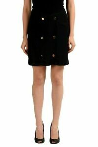 Maison-Margiela-4-Wool-Black-Women-039-s-Straight-Skirt-US-M-IT-42