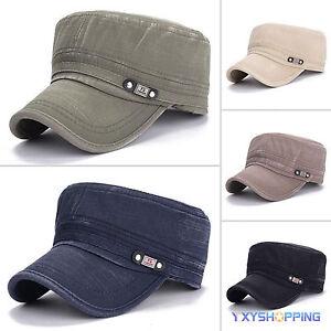 Men Classic Army Plain Hat Cadet COMBAT MILITARY CAP PATROL Baseball Cap Outdoor