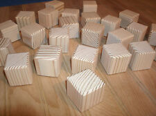 "26 - wooden toy blocks,1 1/2""  square wooden craft blocks, Alphabet blocks"