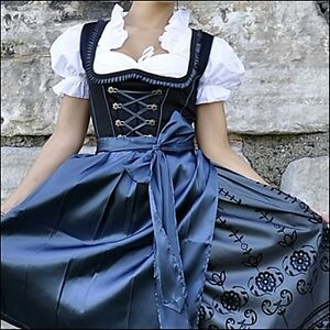 0430-Trachtenkleid-3Tlg-Dirndl-Oktoberfest-Gr-34-36-38-40-42-44-46-48-50-52