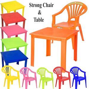 Tavoli E Sedie In Plastica Per Bambini.Kids Per Bambini In Plastica Studio Giardino O All Interno Tavolo