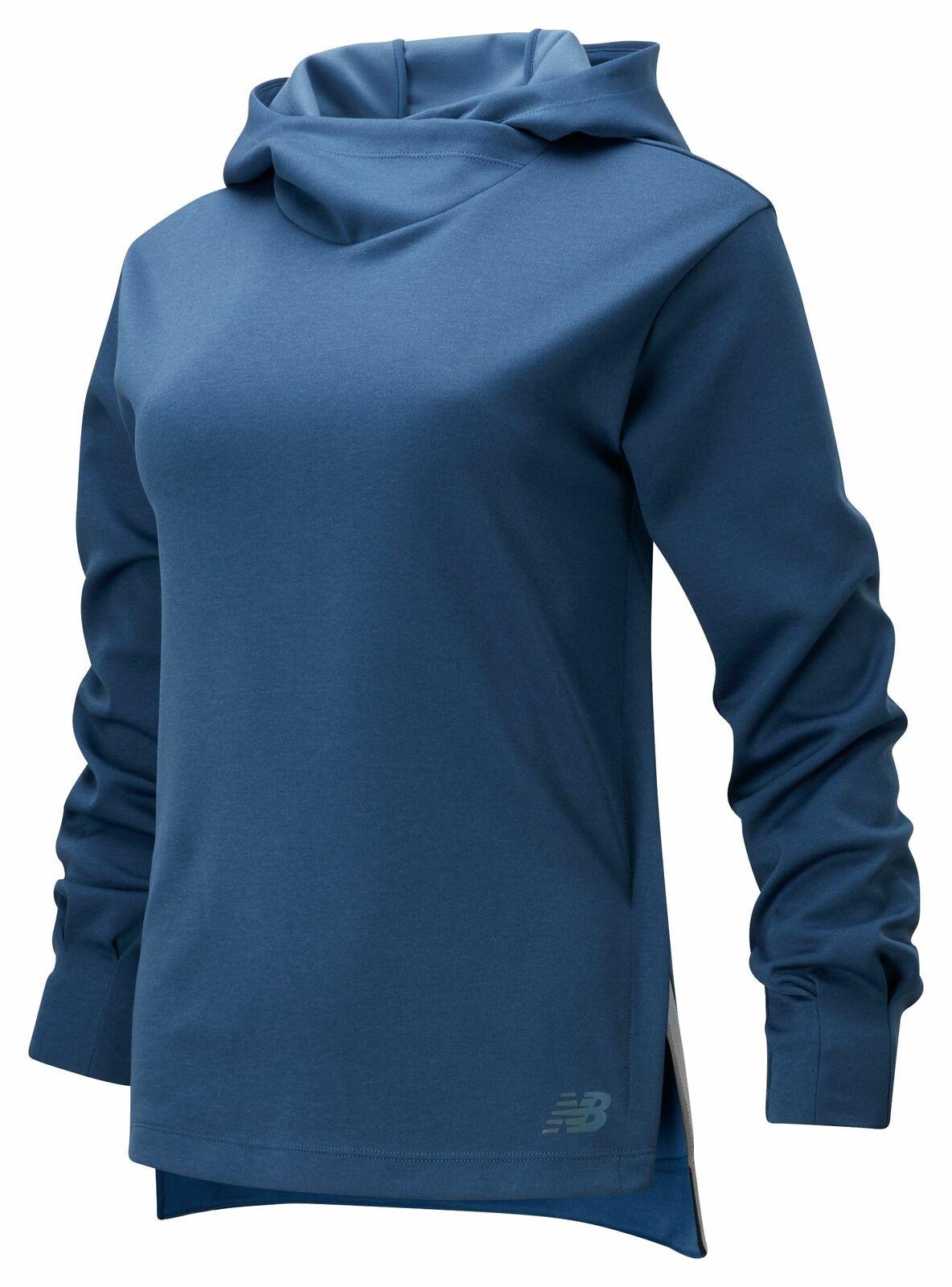 New Balance Women's Q Speed Run Crew Sweatshirt Blue