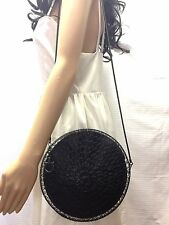 Salvatore Ferragamo Wire Cage Pewter Crochet Collector's Shoulder Bag Round