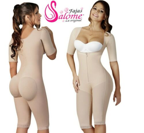 Faja Colombiana Salome Post Surgery Full Body Shaper with Sleeves Control Girdle