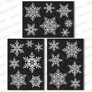 20-Large-Snowflake-Window-Clings-Reusable-Stickers-Simple-Christmas-Decorations