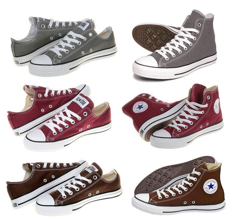 Converse-Chuck all star-marrón gris burdeos cortos zapatos talla  35-48
