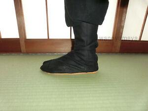 Tabi-Japanese-traditional-boots-Ninja-Shoes-Jikatabi-Long-Type-Black-Blue-JAPAN