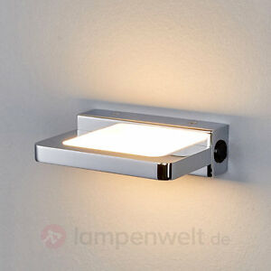 led wandleuchte ediz wandlampe metall chrom led mit schalter flur wohnraum ebay. Black Bedroom Furniture Sets. Home Design Ideas