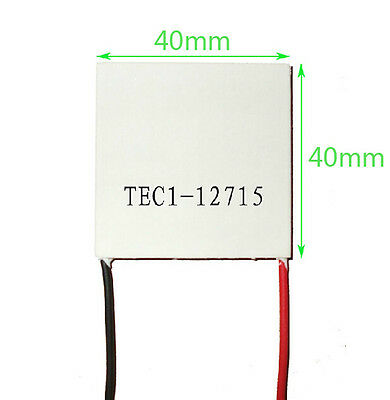 2Pcs 15A TEC1-12715 Heatsink Thermoelectric Cooler Cooling Peltier Plate Module